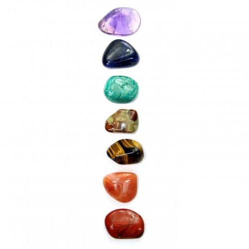 Chakra Stein Set, zum energetisieren der 7 Chakras